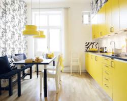 armarios coloridos para cozinha 1