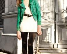 jaqueta de couro verde 2