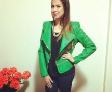 jaqueta de couro verde 3