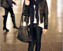jaqueta preta de couro 1