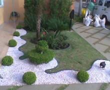 jardim com pedras brancas 1
