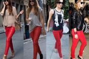 calca jeans vermelha 2