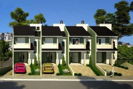 Sobrados geminados economia e beleza construa essa ideia - Decorar duplex pequeno ...