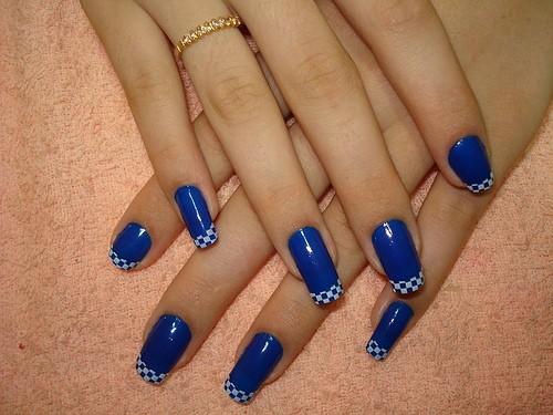 decoracao em unha branca : decoracao em unha branca:unhas decoradas faias branca azul Car Tuning