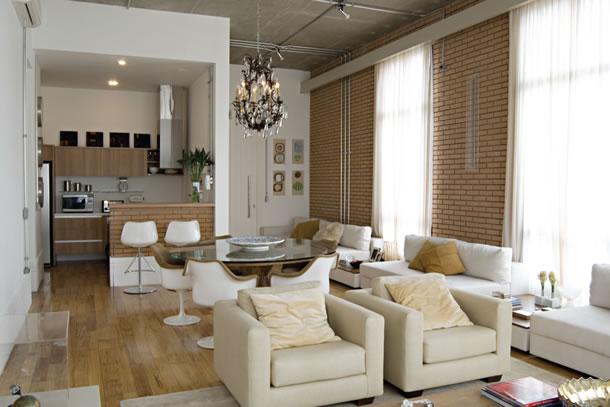 Decoração de loft estilo em ambientes integradosRevista das dicas