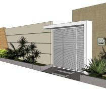 fachada de muro moderno 3