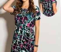 vestido estampado curto 2