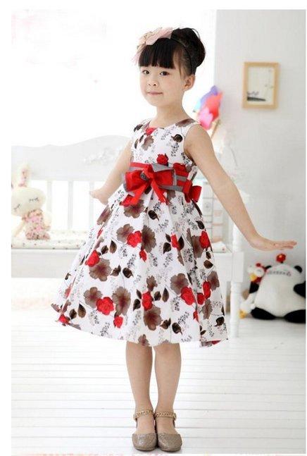ffaf85f006636b vestido florido para meninas em modelos lindosRevista das dicas