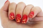 unhas com vermelho para natal 1