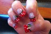 unhas com vermelho para natal 2