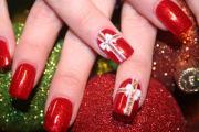 unhas com vermelho para natal 5