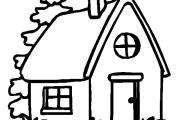 casa para colorir 4