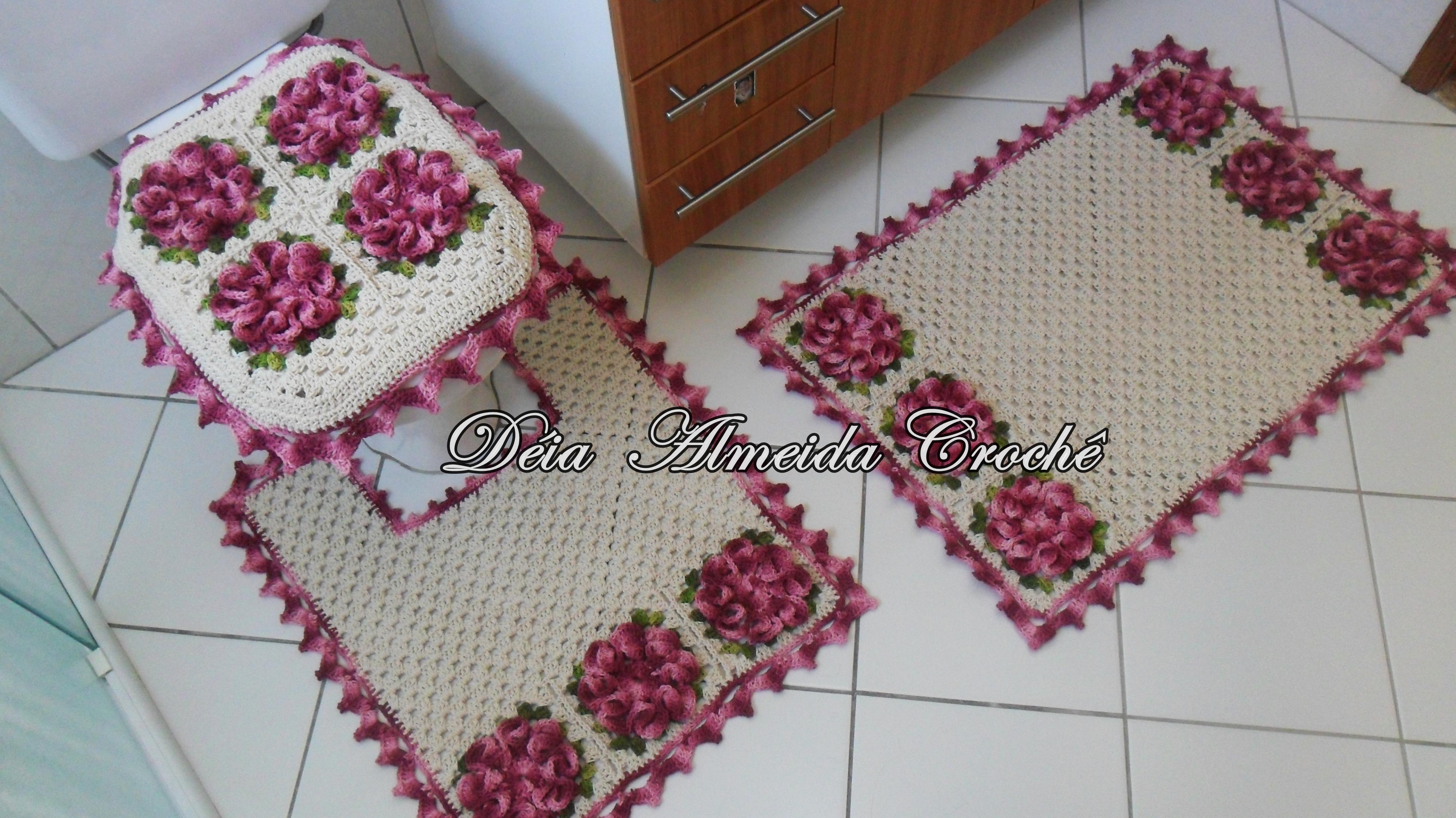 Jogo de banheiro com crochê maravilhosos modelos  Revista das dicasRevista d -> Jogo De Cuba Para Banheiro
