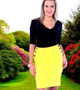 saias jeans coloridas em amarelo para evangelicas 6