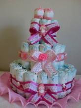 bolo de fraldas rosa 1