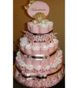 bolo de fraldas rosa 3