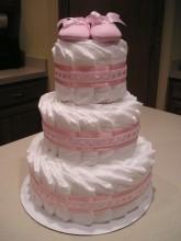bolo de fraldas rosa 7