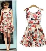 vestido estampado curto estampa grande 8
