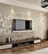 sala com papel de parede 1