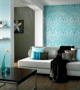 sala com papel de parede 3