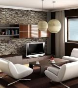sala linda com papel de parede 4