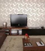 sala com papel claro de parede 6