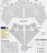 tapete de croche redondondo com mostra de grafico 10