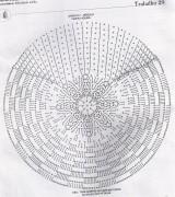 tapete de croche redondondo com simples grafico 6