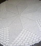 tapete de croche fechado redondondo com grafico 8