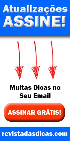 Banner Atualizações Assine Revista das Dicas 300x600