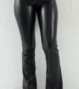 calca de couro feminina flare