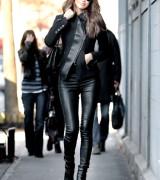 calca de couro feminina skinny
