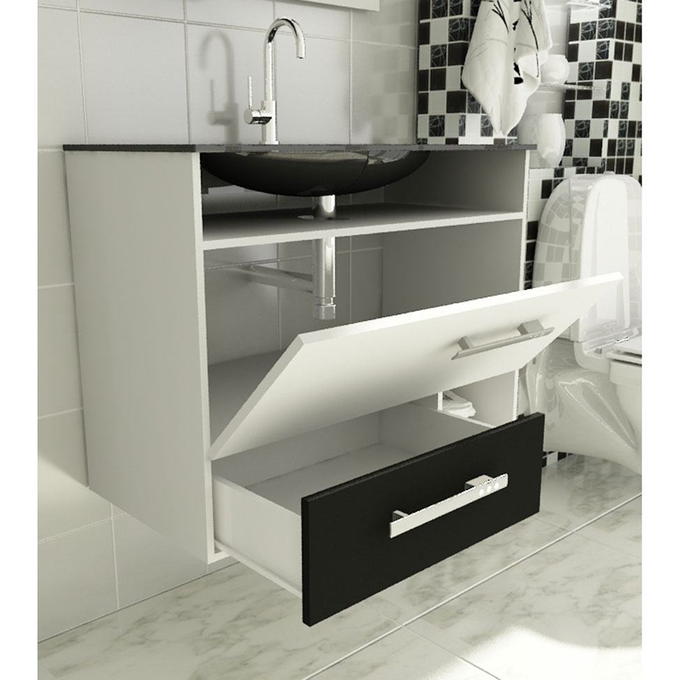 Gabinete para banheiro  dicas e fotos de modelos  Revista das dicasRevista  -> Gabinete De Banheiro Due Branco Tomdo