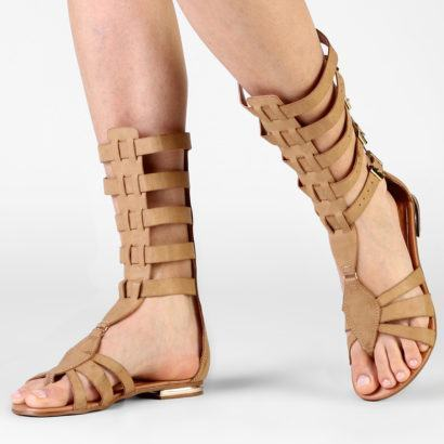 sandalias gladiadoras salto baixo