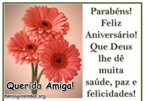 com flores mensagem de aniversario para amiga