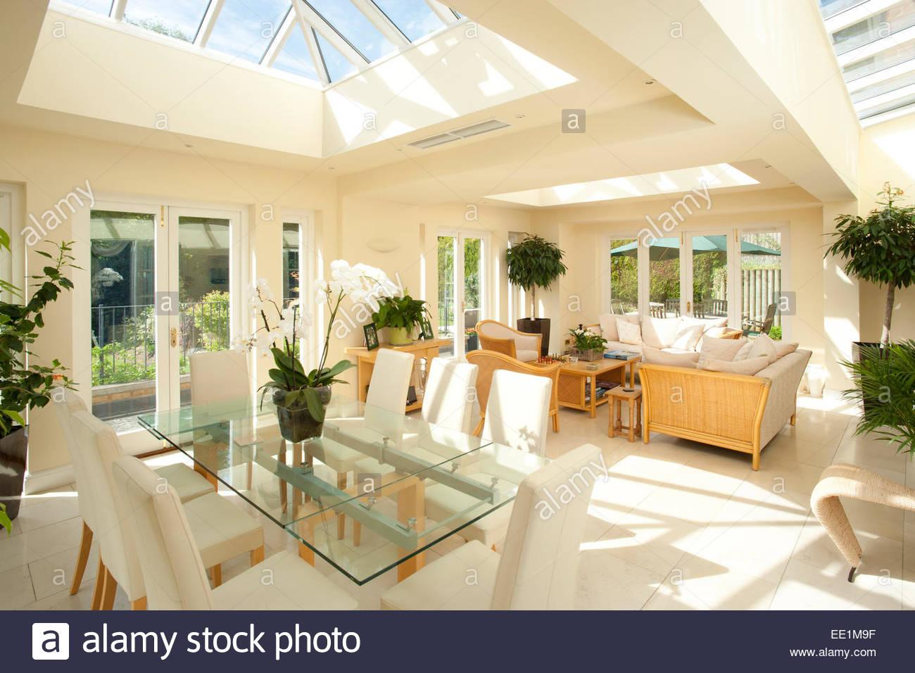 telhado de vidro moderno