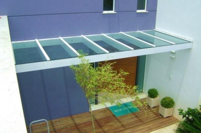 telhado de vidro para jardim