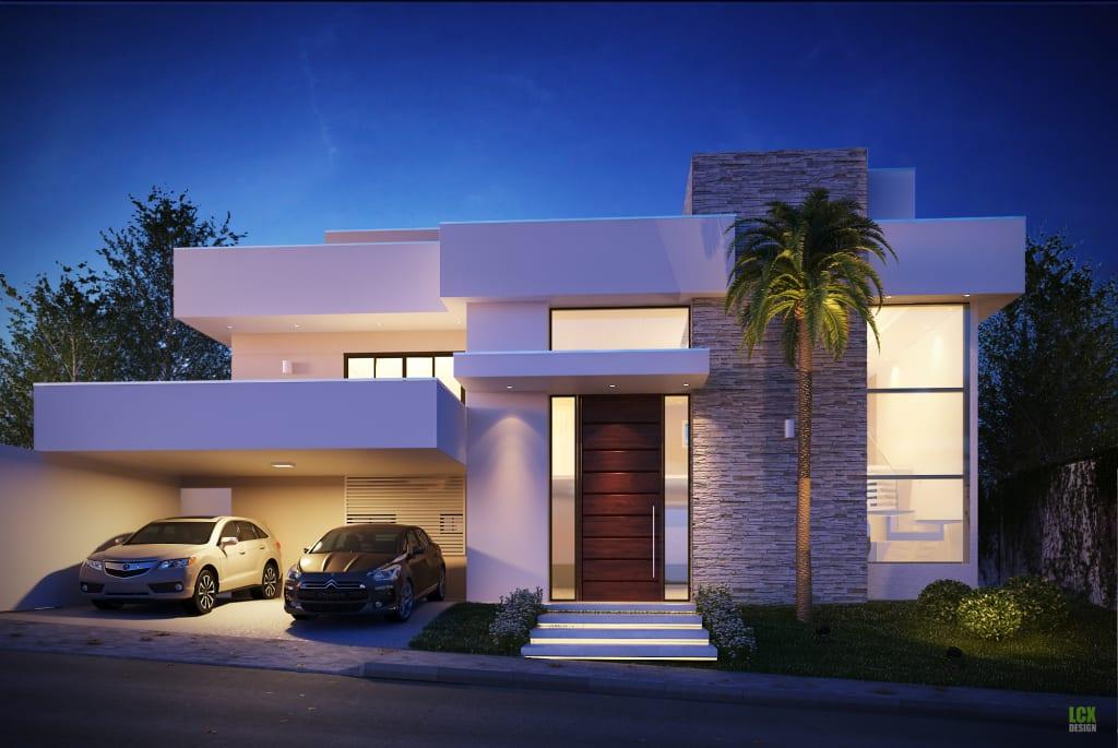 Fachadas modernas de casas dicas e modelosrevista das dicas for Fachadas de entradas de casas modernas