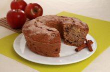 bolo de maçã com aveia