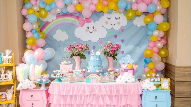 foto de mesa infeitada para aniversariantes infantis